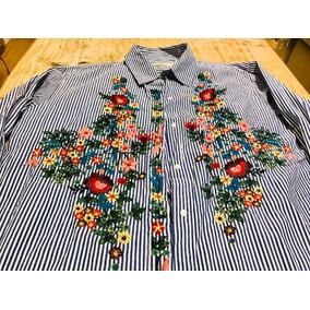Camisa Rayas Bordada Dama - Camisas de Mujer en Mercado Libre Uruguay 2ee2c45e393