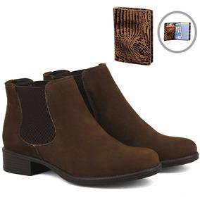 fe18b17961 Botina Chelsea Boots Marrom Franca - Sp Em Couro + Brinde