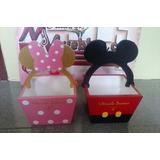 Cotillones Mdf Al Crudo Minnie Y Mickey Mouse Letras Bases