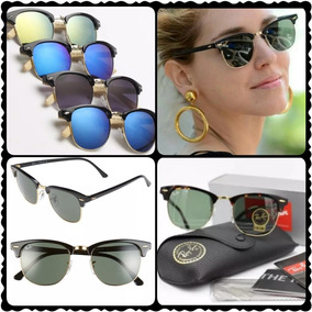97e331ddaf443 óculos De Sol - Óculos De Sol Ray-Ban Clubmaster Com lente ...