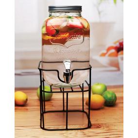 Frasco Dispenser Con Canilla Y Soporte Hermetico 3l Bebidas