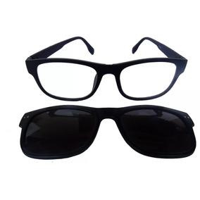 4eeed1ca9c199 Armação Óculos De Grau Clip On 2 Em 1 Polarizado Hp