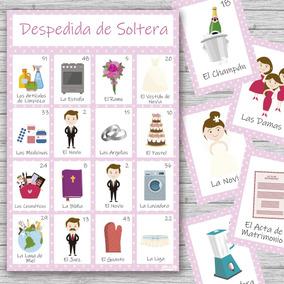 Kit Imprimible Lotería Despedida Soltera 20 Tablas Oferta