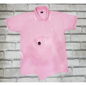 Kit Camisas Gola Polo Pai E Filho (a) Rosa 336681c52ab
