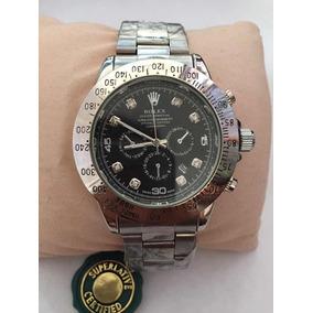 Reloj Para Caballero Rolex Daytona Acero Carátula Negra