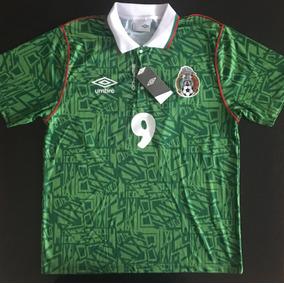 Impresionante Jersey Verde Local Mexico 1994 Hugo Sanchez 9 e2fcfc9f6c74b