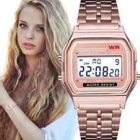 dad8d12e60a Relógio Casio Digital Aço Vintage Unisex Prata - Relógios De Pulso ...