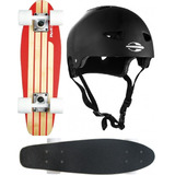 Skate Cruiser Mini Long Red Nose 444200 + Capacete G Mormaii