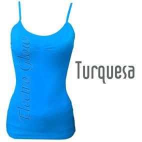 Blusa De Tirantes Turquesa Jera Original Mayoreo