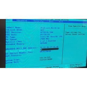 Servidor Hp Proliant Ml110 G6 Server -8 Gb - Xeon- 4 Tb Hd