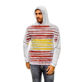 Blusão Espanha Stripes Unissex Com Capuz 696d5aa67877d