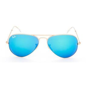 85 Ray Ban Aviator 58 Dourado Fosco 112 De Sol - Óculos no Mercado ... b267ba8931