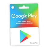 Cartão Google Play Store Usa Android U$25 Envio Imediato