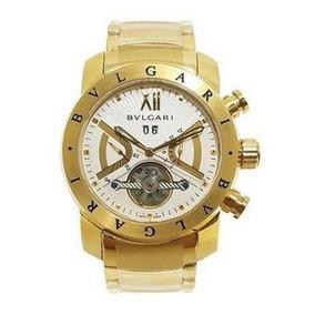 1c9e4bd4035 Relogio Bvlgari Iron Man Dourado - Relógio Bvlgari Masculino no ...