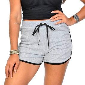 e236150a1 Short Cintura Alta Moletom - Shorts no Mercado Livre Brasil