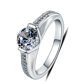 Anillo Compromiso Eternity Ak Jewelry Plata 925 Oro 18k