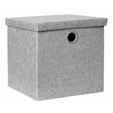 Caja Organizadora Klau Mediana Gris 30x30x30 Cms Casamia