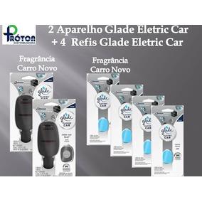 2 Aparelhos Glade Eletric Car + 4 Unid Refil Carro Novo