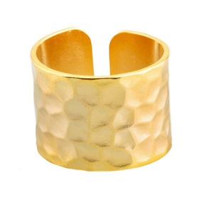 Luckyly Anillos Grandes Para Mujer Cécile, Oro Y Plata Mate