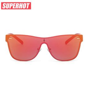 Óculos De Sol Unissex Espelhado Vermelho - Superhot ce9a2aa5cb