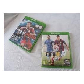 2 Jogos: Fifa 15 + Pes 2015 - Xbox One - Mídia Física Ambos