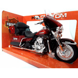 Rojo Harley Davidson Electra Glide Ultra Escala 1:12 Maisto