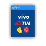 Recarga Celular Crédito Online Oi Claro Vivo Tim R$40 Rápida