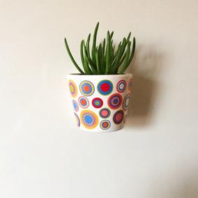 Vaso Decorativo (bolinhas) C/ Imãs