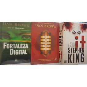 It A Coisa Livro S. King + 2 Livros Dan Brown + Frete Grátis
