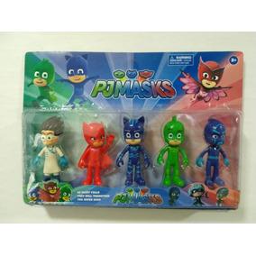 Brinquedos Herois De Pijama 6 Pçs Modelo Pj Mask Promoção