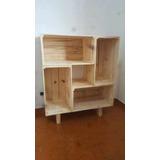 Mueble Organizador Caja Tipo Huacal Reja Madera Librero