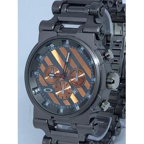 Relógio Okley Masculino Tank Point Aço Inox