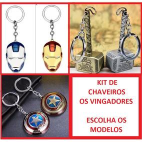 Kit 3 Chaveiros Marvel Os Vingadores Escolha Os Modelos