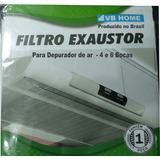Filtro P/ Depurador De Ar 4,6 Bocas -kit C/ 03 Pct C/ 01 Un
