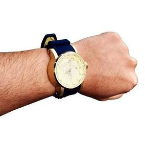 f7784735fdc Relogio Masculino Dourado Azul Barato Pesado - Joias e Relógios no ...