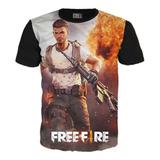 Camiseta Free Fire Gamer 2019 Exclusiva Algodón