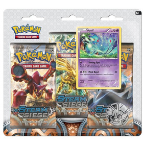 Sobres 3 Pack Tarjetas Pokemon Trading Card Steam Siege Xy