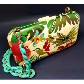 Bolsa Em Madeira (marchetaria) Artesanato Beija-flor