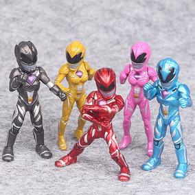 Kit 5 Bonecos Power Rangers O Filme 8cm Figure Ranger