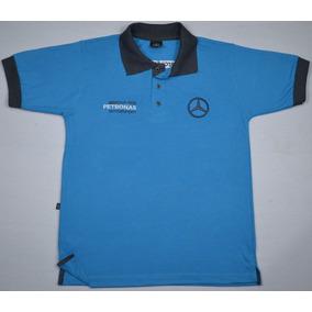 Camisa Polo Mercedes Benz Amg - Preta - Bordada