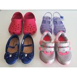 Lote Infantil Calcados Sapatos Tênis Pisca Tam Num 23 2t 3t