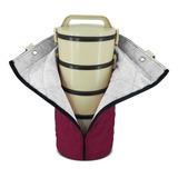 Bolsa Sacola Porta 5 Marmita Termica C/ Ziper Varias Cores