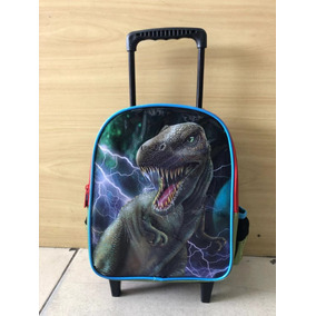 Mochila Infantil Pequena Escolar Com Rodinhas -dinossauro
