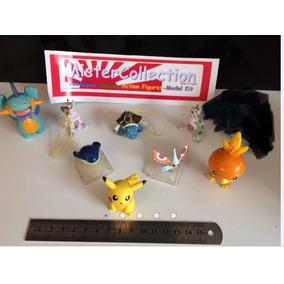 Conjunto 8 Gashapon Pokemon Bandai Meu Two Pikachu