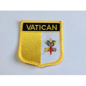 Patche Aplique Bordado Escudo Da Bandeira Do Vaticano 6x7cm