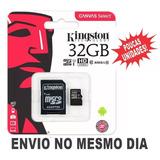 Cartão Micro Sd Kingston 32gb Classe 10 Original Lacrado!!!