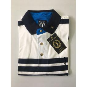 08303d7d22 Camisa Polo Masculina Aleatory Listrada Original 001