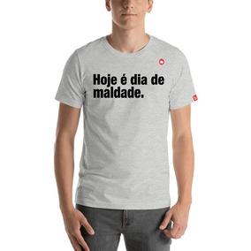 Camiseta Hoje E Dia De Maldade Calçados Roupas E Bolsas Cinza