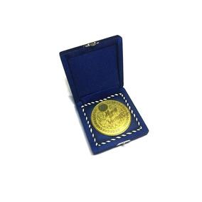 Medalha Ouro 70 Mm Para Homenagem Com Estojo - Irmossi