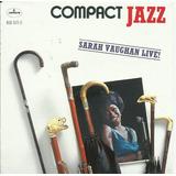 Sarah Vaughan - Live Compact Jazz (como Nuevo Importado Usa